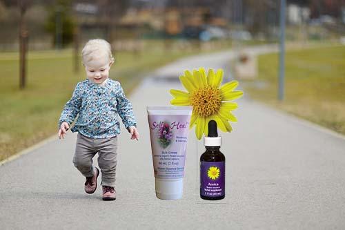 Self-Heal Crème & Arnica Aid in Toddler Injuries