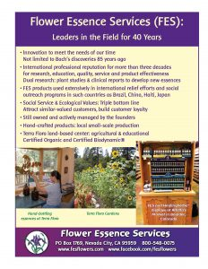 flower essence services sales sheet
