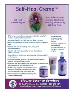 self-heal creme sales sheet