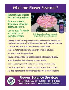 what are flower essences sales sheet